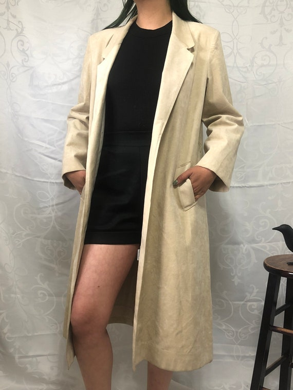 Lilli Anne UltraSuede Trench Coat - 1980s Vintage