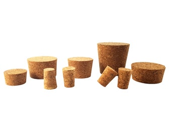 Natural Agglomerated Conical Cork Stoppers / Tapered High Quality Custom Portuguese Cork Lids/Recyclable Green Environment Friendly