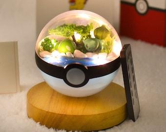 Pokemon Terrarium Sleepy Bulbasaur Terrarium Pokeball gifts Pokemon go Best Pokemon Gifts For Him/Her