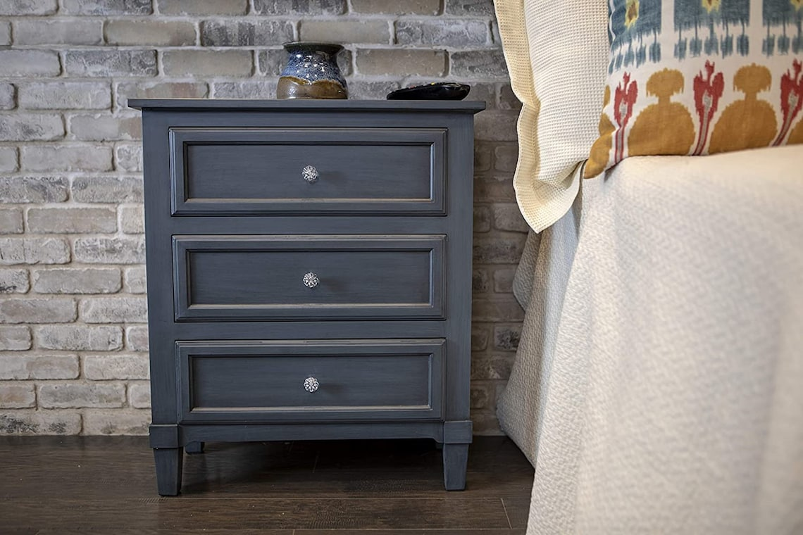 3-Drawer Side Table, 24x12x28