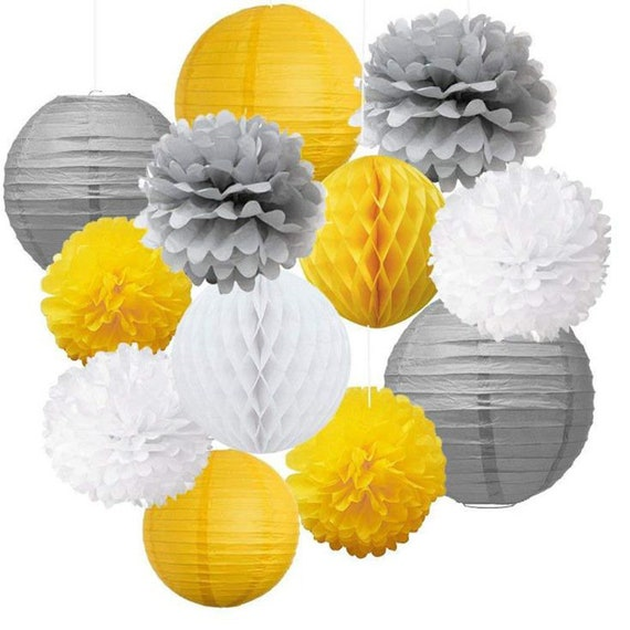 Vaskey Green Honeycomb Balls Tissue Paper Honeycomb lantern Paper Pull Flower for Wedding Party 5pcs