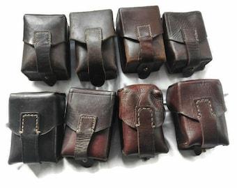 Military Surplus, Mandalorian, Belt pouch, Vintage leather, LEATHER Ammo POUCH, Star Wars Bag, Boba Fett Pouch, Belt Bag,Jedi, Bounty Hunter