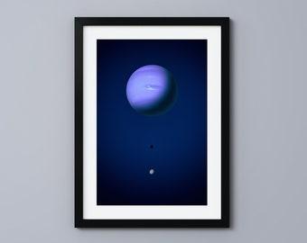 Neptune (Fine Art Print) Space Poster