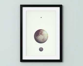 Pluto (Fine Art Print) Space Poster