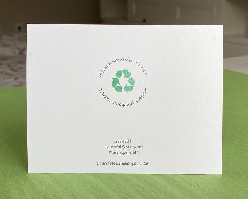 French-Carte de Voeux-Je t\u2019aime-100/% Papier Recycle-Ecologiques-Artisanal