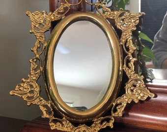 Small Vintage Mirror Etsy