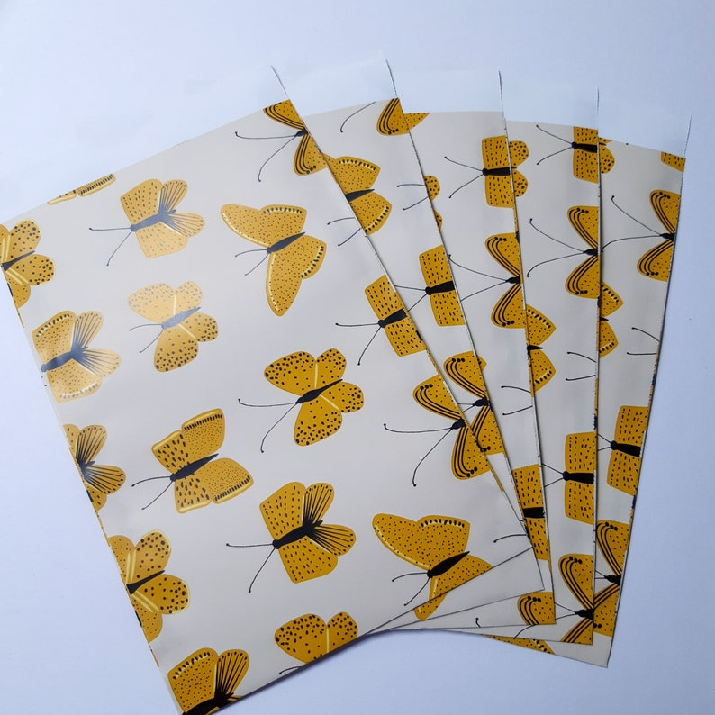 Dutchdesignink 12cm x 19cm gift bags various gift bags  butterflies bags set of 7 bags packing bags
