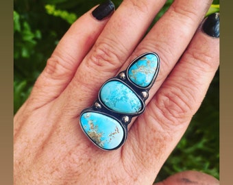 White Water Turquoise Ring