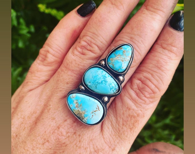 Featured listing image: White Water Turquoise Ring