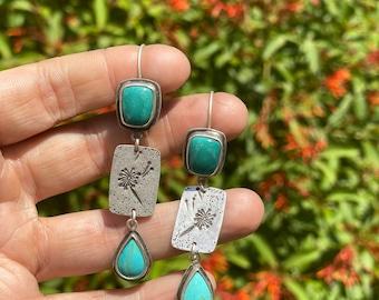 Dandelion Turquoise Earrings