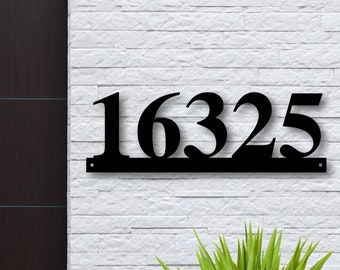 10110 20 X 30 PERSONALIZED HOUSE ADDRESS PLAQUE W// LAST NAME AND STREET NAME