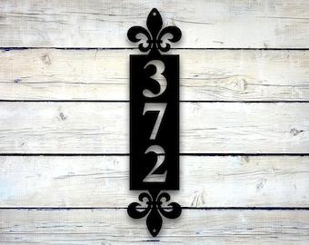 Vertical Metal Address Sign, Address Number Plaque, House Numbers Vertical House Number Plaque Vertical Address Sign Vertical Address Number