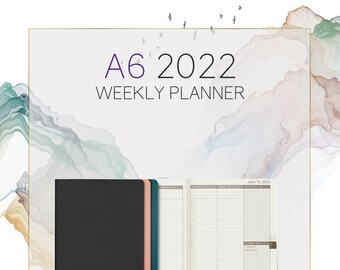 A6 2022 Weekly Planner - 52gsm Tomoe River Paper