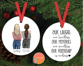 Best Friend Ornament   Personalized Gifts   Custom Ornament    Best Friend Gifts   Christmas Ornaments   Christmas Gifts  