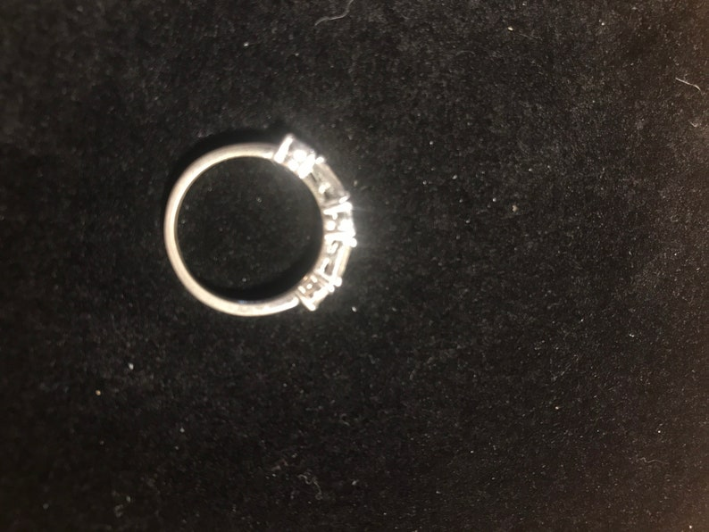 Cubic Zirconia in Sterling Silver Anniversary Ring