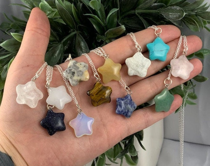 Assorted Crystal Star Pendant Necklace