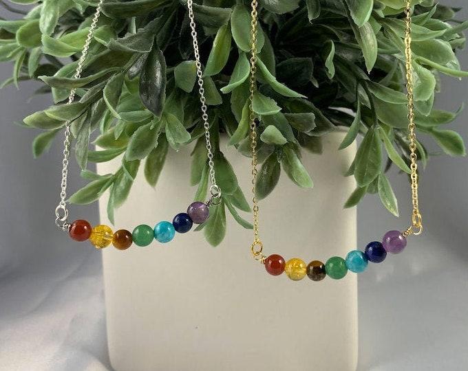 Rainbow Chakra Stone Necklace