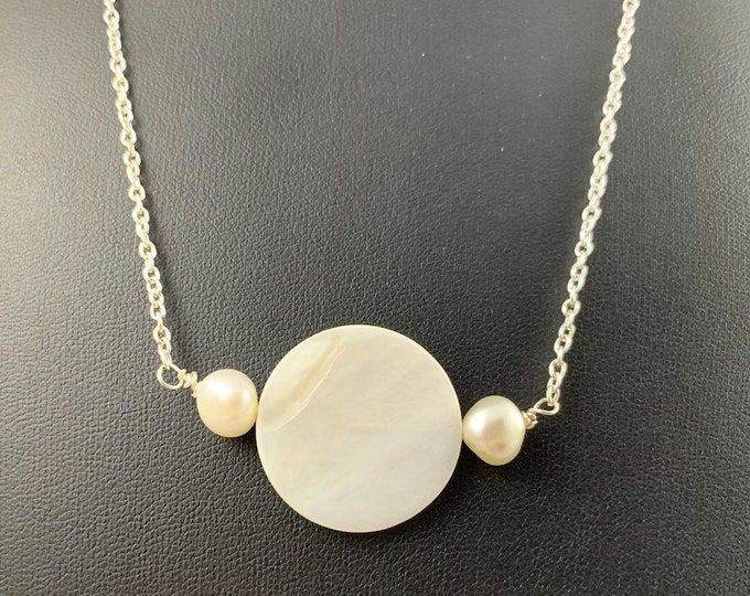 Freshwater Pearls & Shell Necklace