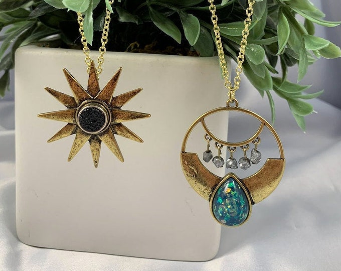 Assorted Crystal Statement Necklaces