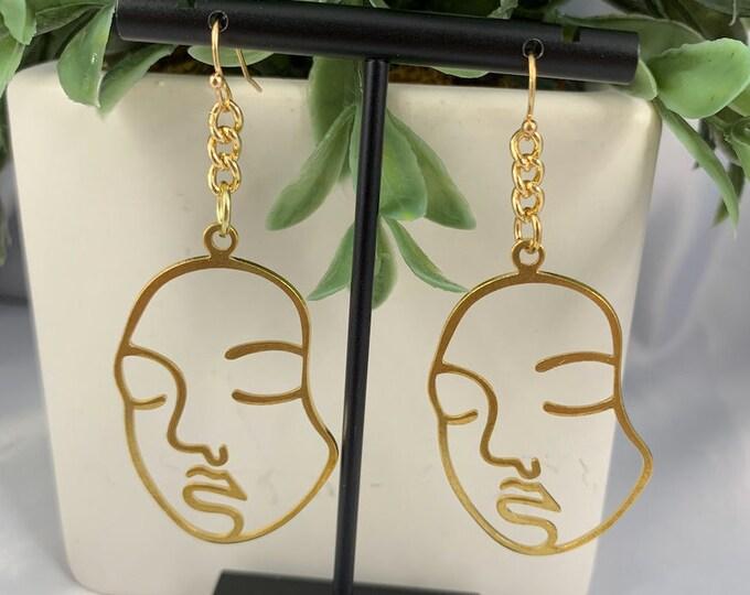 Golden Girl Dangle Earrings