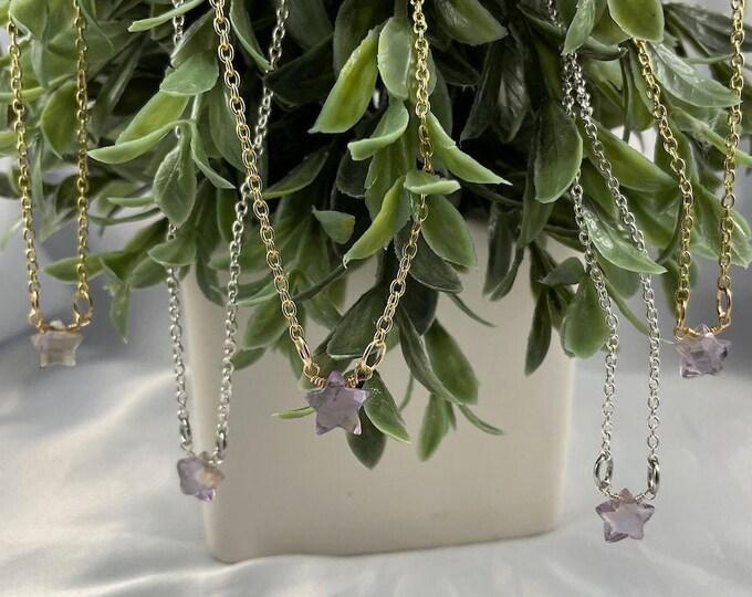 Ametrine Crystal Star Necklace