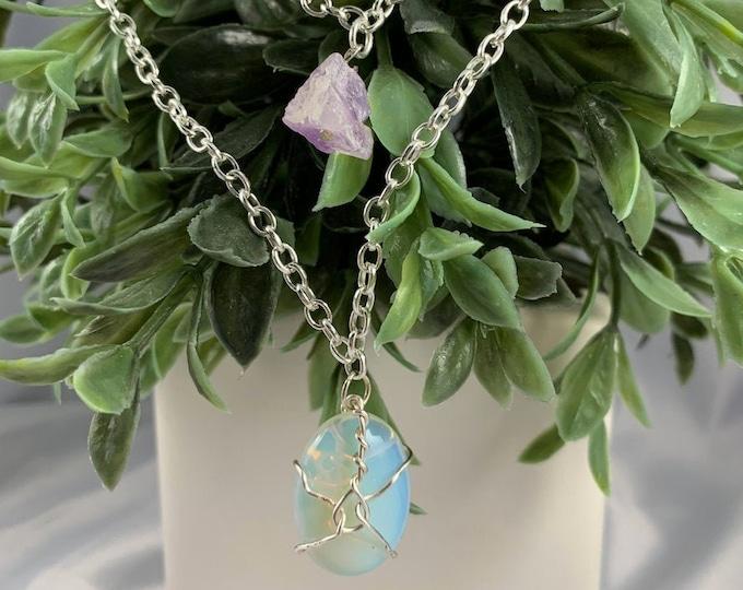 Opalite & Amethyst Multi-Strand Necklace