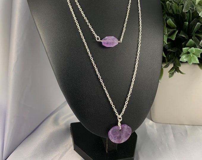 Amethyst Crystal Multi-Strand Necklace