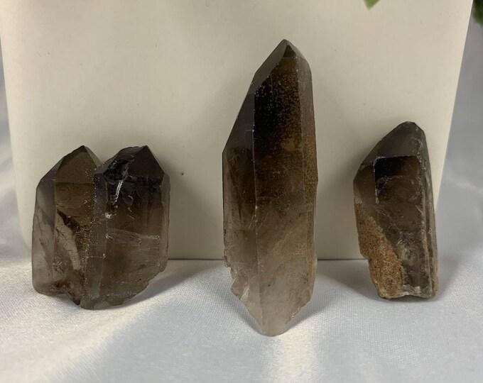 Smokey Quartz Crystal Set