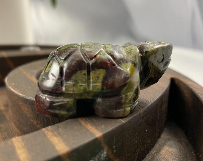 Bloodstone Crystal Turtle, Bloodstone, Bloodstone Crystal, Crystal Turtle, Turtle, Metaphysical Healing, Crystal Healing, Crystals for Sale