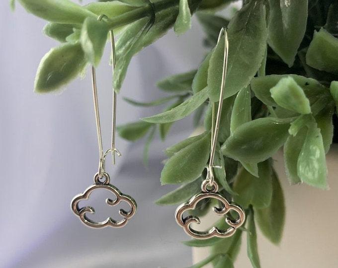 Cloud Silver Dangle Earrings