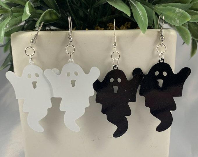 Spooky Ghost Dangle Earrings