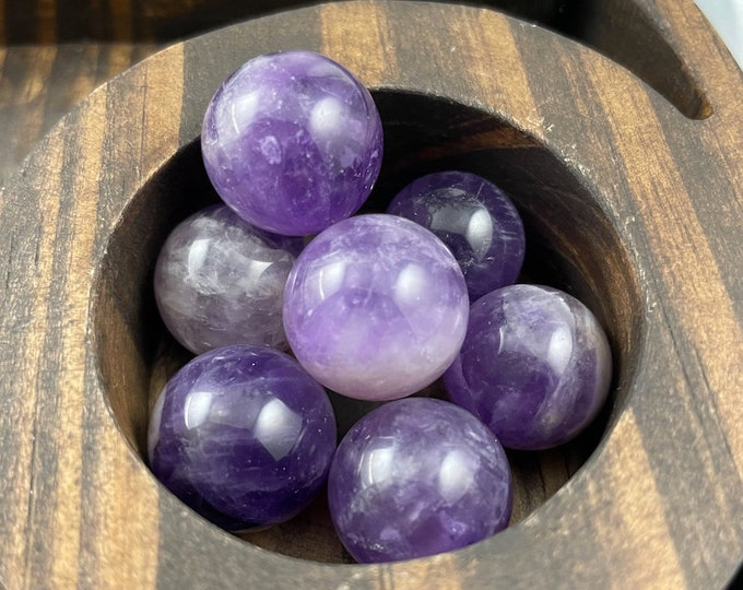 Amethyst Mini Sphere Set, Amethyst Sphere, Amethyst Crystal, Amethyst, Crystal Sphere, Sphere, Crystals for Sale,Crystal Set,Crystal Healing