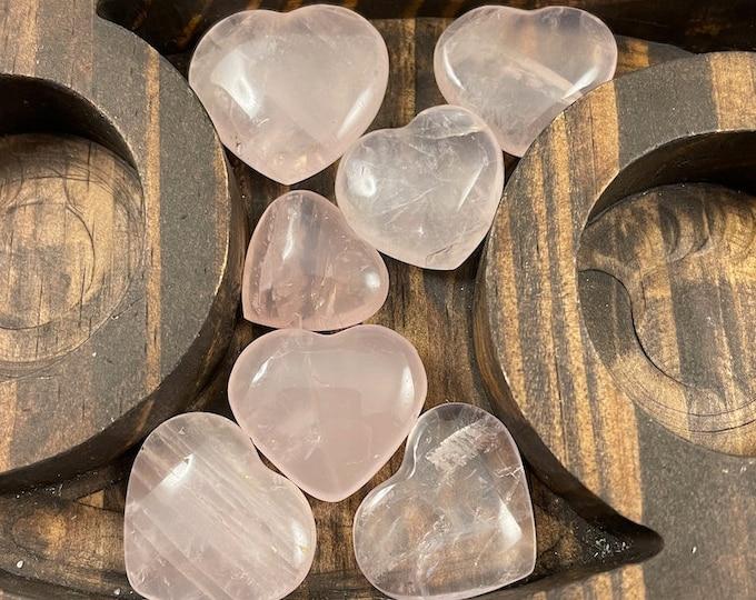 Rose Quartz Crystal Heart Set, Rose Quartz, Crystal Heart, Crystal, Rose Quartz Crystal, Rose Quartz Heart, Metaphysical Crystal, Heart