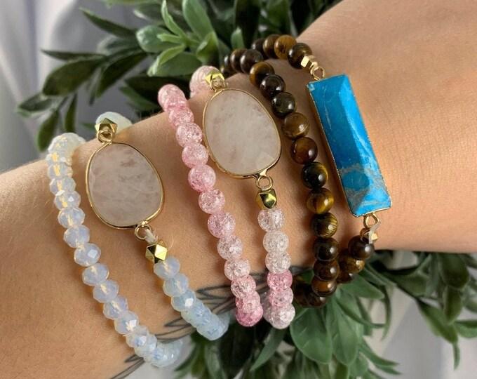 Assorted Crystal Stackable Bracelet Set