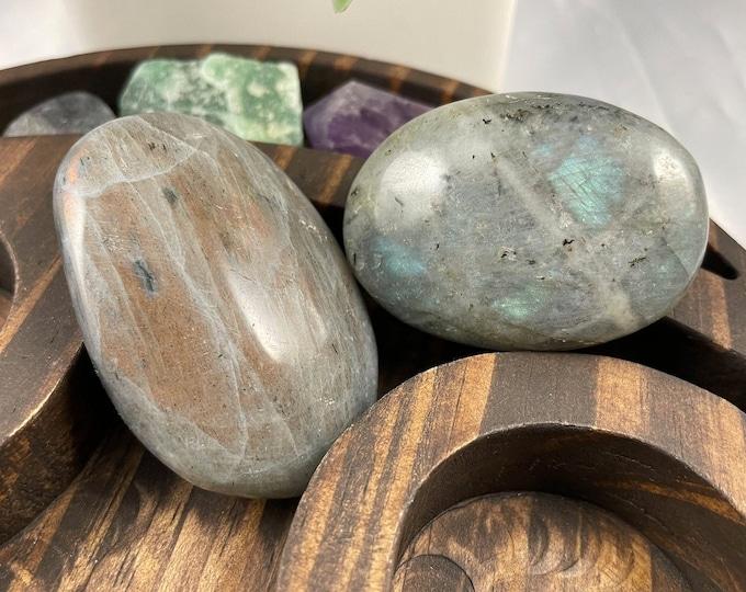 Labradorite Crystal Palm Stone