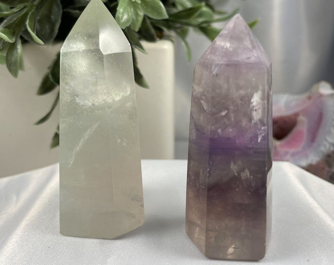 Natural Fluorite Crystal Tower