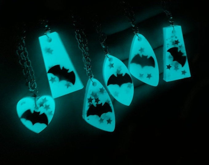 Glow In The Dark Bat Necklace
