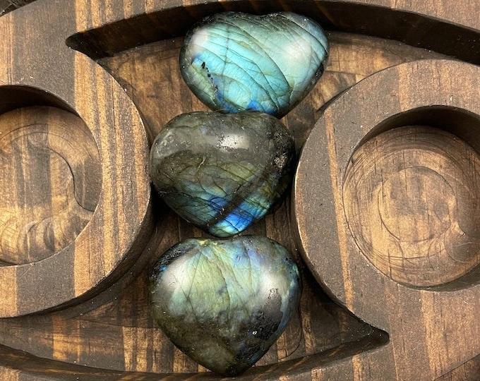 Labradorite Crystal Heart, Labradorite Crystal, Crystal Heart, Labradorite, Crystals for Sale, Crystals under 20, Blue Flash Labradorite