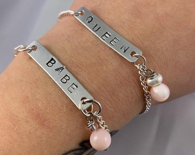 QUEEN & BABE Silver Chain Bracelet