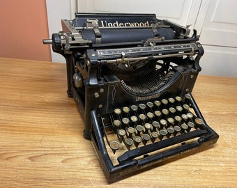 1904 Antique Underwood No.4 Typewriter Working w New Ink