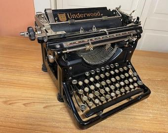 1933 Antique Underwood No.6 Typewriter Working w New Ink & Special Symbols
