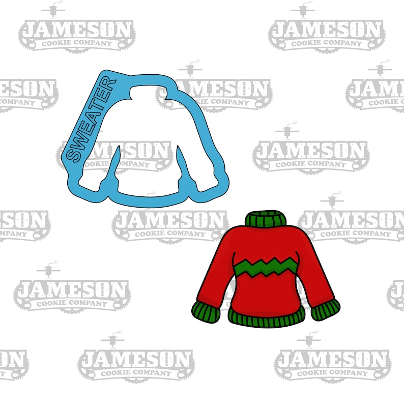Cardigan Holiday Sweater Christmas Ugly Sweater Cookie Cutter