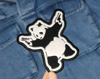 """Banksy """"Be Like Panda"""" Patch"""