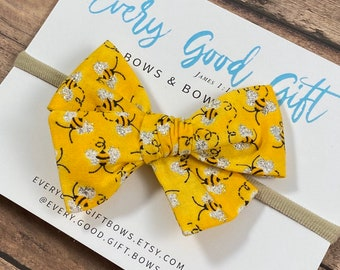 Honey Bee Hair Bow