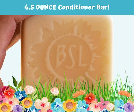GIANT CONDITIONER BAR / Solid Conditioner Bar / 4 Organic Essential Oil Blends / Giant 4.5 Ounce Bar / Moisturizing Conditioner Bar