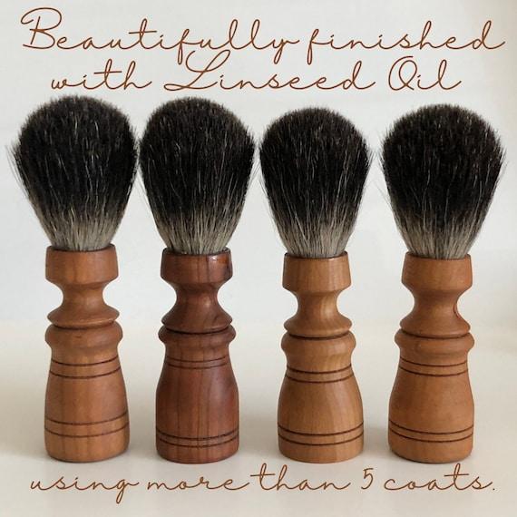CHERRY WOOD Shaving Brush / Made In The USA / Handmade / Badger Hair