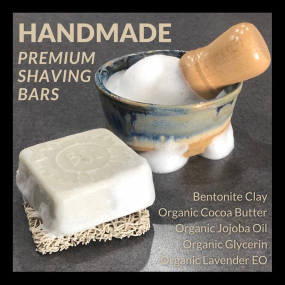 PREMIUM SHAVING Bar/ pH Balanced Shaving Cream Bar / Men's Shaving Bar / Women's Shaving Bar / Soap Free / Gentle on Skin