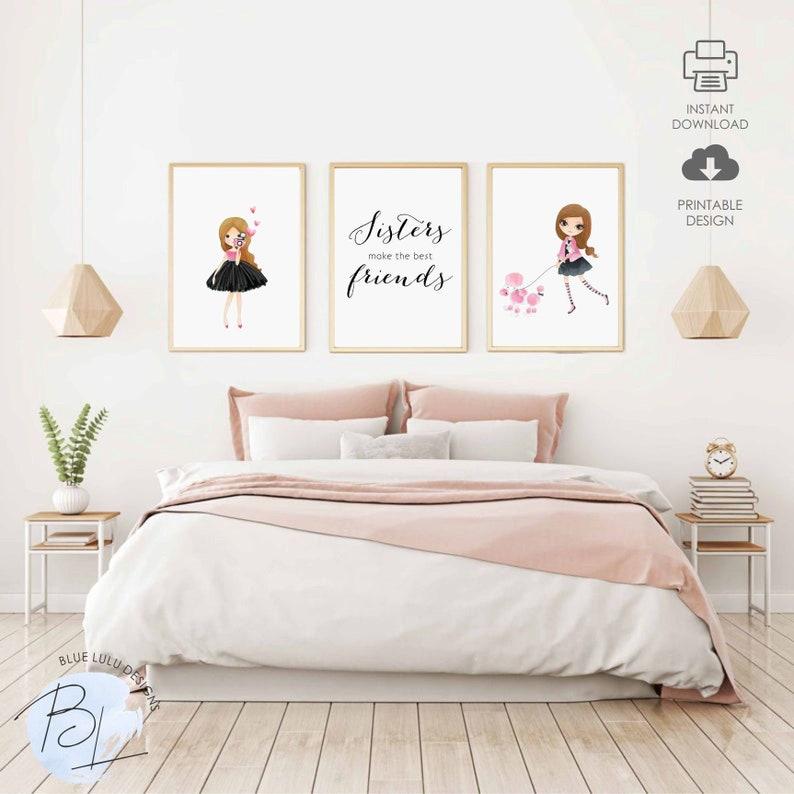 Sisters Make The Best Friends Nursery Decor Printable Sisters Etsy