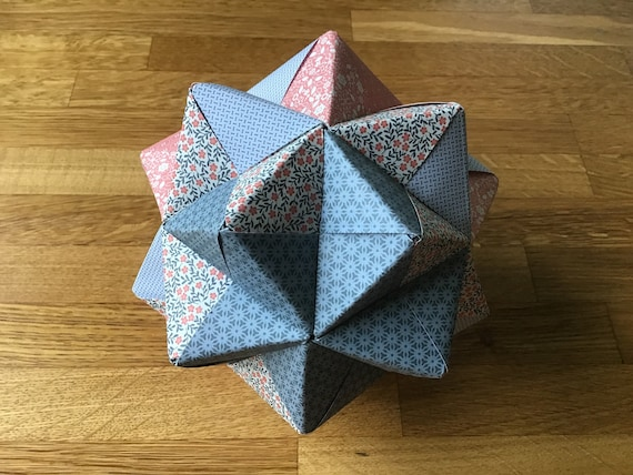 Modular Origami - spiky balls and stellated polyhedra models ... | 428x570