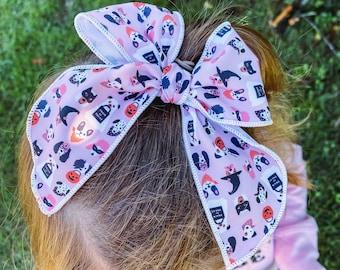 Halloween Puppies Sailor Bow // Hair Clip or Nylon Band // Design by Hey Cute Design